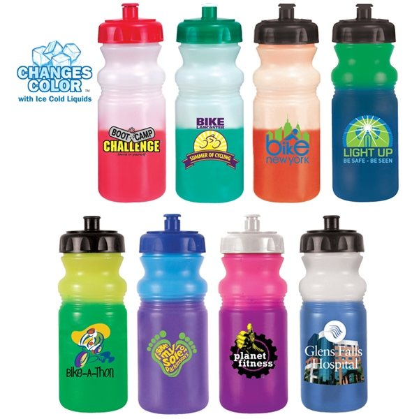 Promotional 20 oz Mood Cycle Bottle (1 Side), Full Color Digital - BPA Free