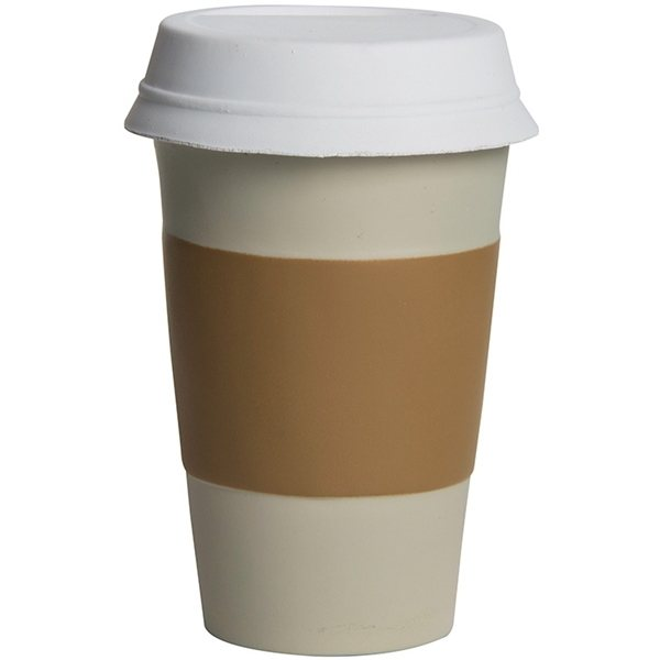 Promotional Take Out Coffee Cup Squeezies - Stress reliever