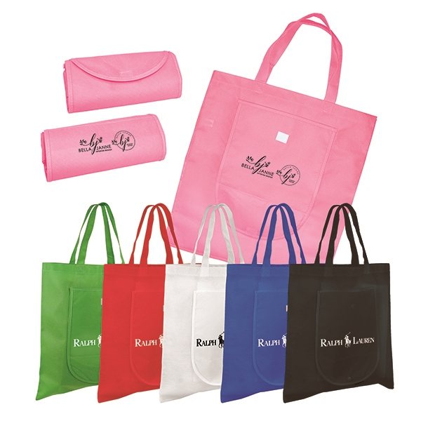 Promotional Non - Woven Fold n Go Tote Bag