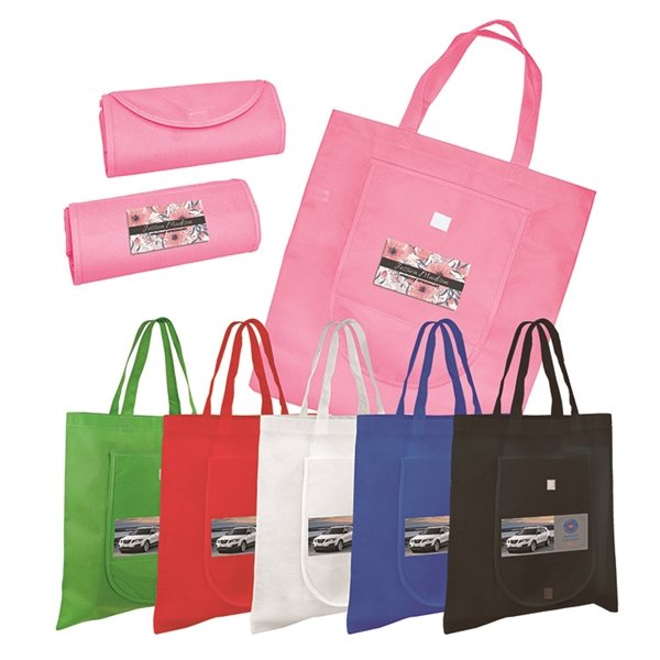 Promotional Non - Woven Fold n Go Tote Bag, Full Color Digital