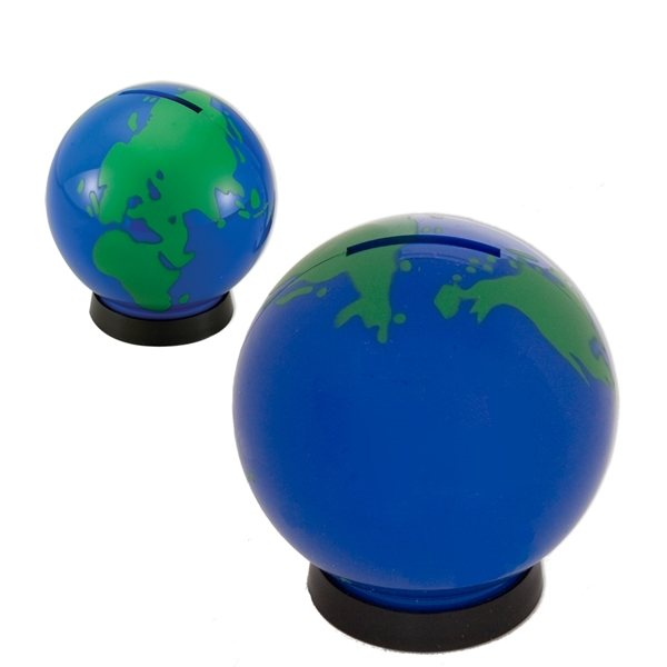 Promotional Plastic Globe Bank Coin Bank