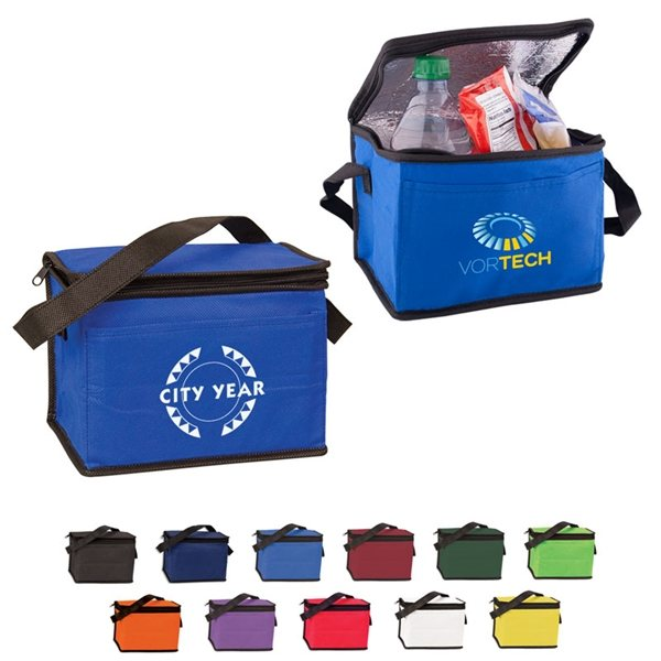 Promotional 6 Pack Non - Woven Cooler Bag