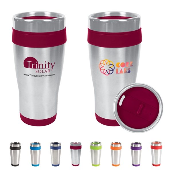 Promotional 16 Oz BPA - Free Plastic Blue Monday Travel Tumbler With Multiple Color Choices