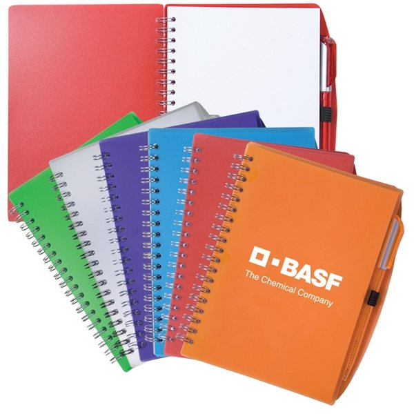 Promotional Custom Spiral Notebook With Pen