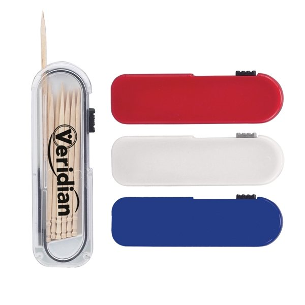 Promotional Toothpick Carrier with Thumb Dispenser