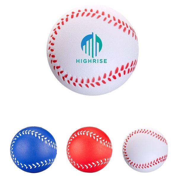 Promotional Handcrafted Polyurethane Baseball Stress Reliever