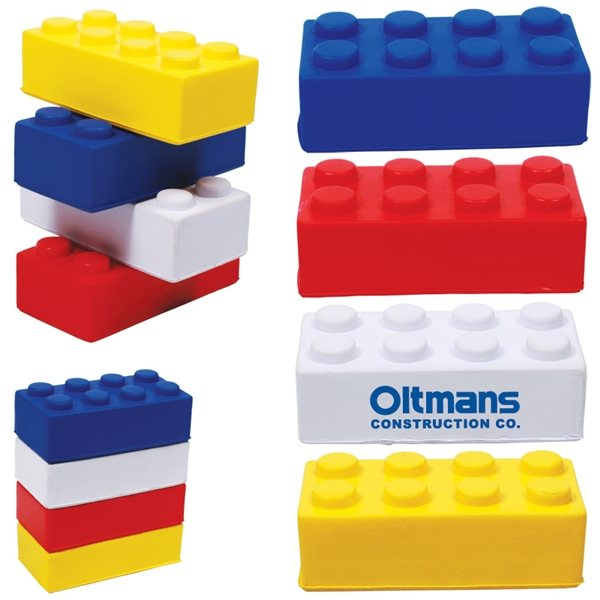 Promotional Building Block Stress Reliever