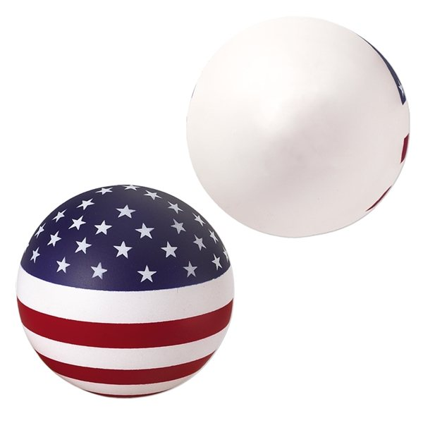 Promotional USA Patriotic Round Ball Stress Reliever