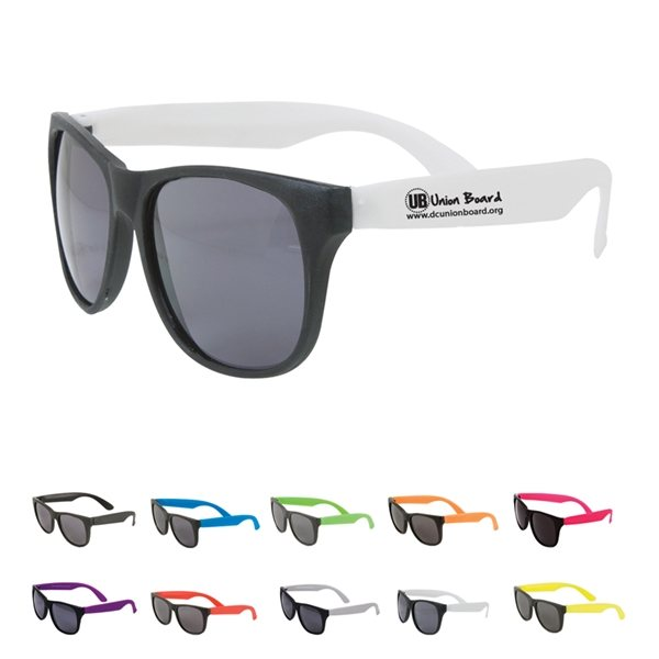 Promotional Multi Color Custom Two Tone Matte Sunglasses