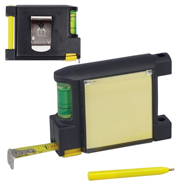 Promotional 6 1/2 Ft. Level Notepad Tape Measure