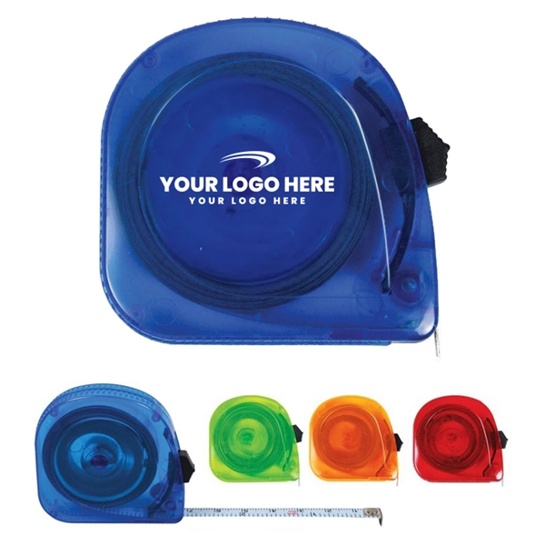 Promotional 10 Ft. Translucent Tape Measure