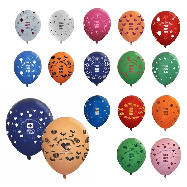 Promotional 11 Wrap Latex Balloon - Fashion