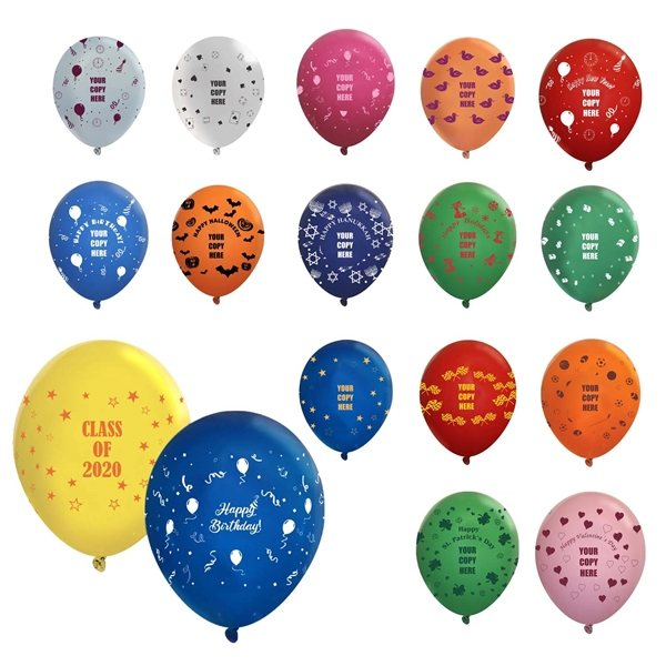 Promotional 11 Wrap Latex Balloon - Crystal