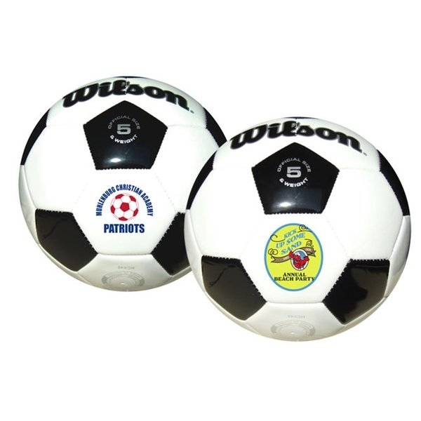 Promotional Wilson(R) Premium Synthetic Leather Soccer Ball