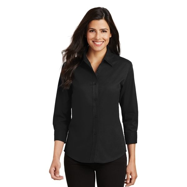 Promotional Port Authority Ladies 3/4- Sleeve Easy Care Shirt - COLORS