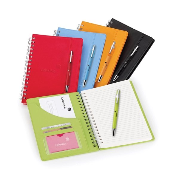 Promotional Neoskin 5 15/16 X 9 Spiral Journal Combo