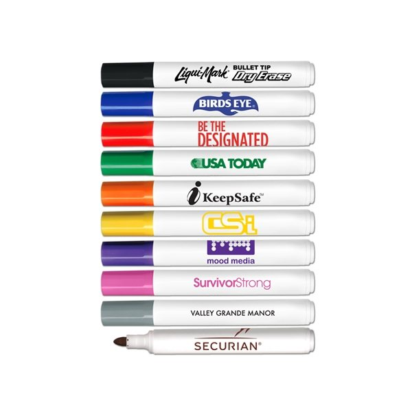 Promotional Low Odor Bullet Tip Dry Erase Markers - USA Made