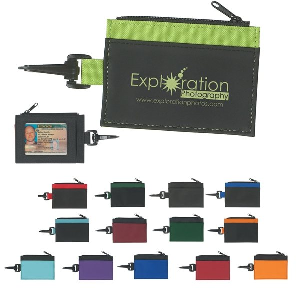 Promotional Zippered ID Holder