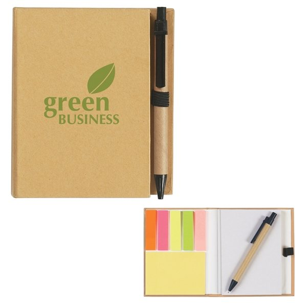 Promotional ECO - Inspired Notebook With Pen