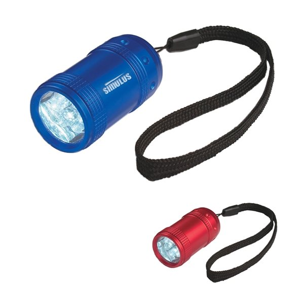 Promotional Aluminum Small Stubby LED Flashlight With Strap