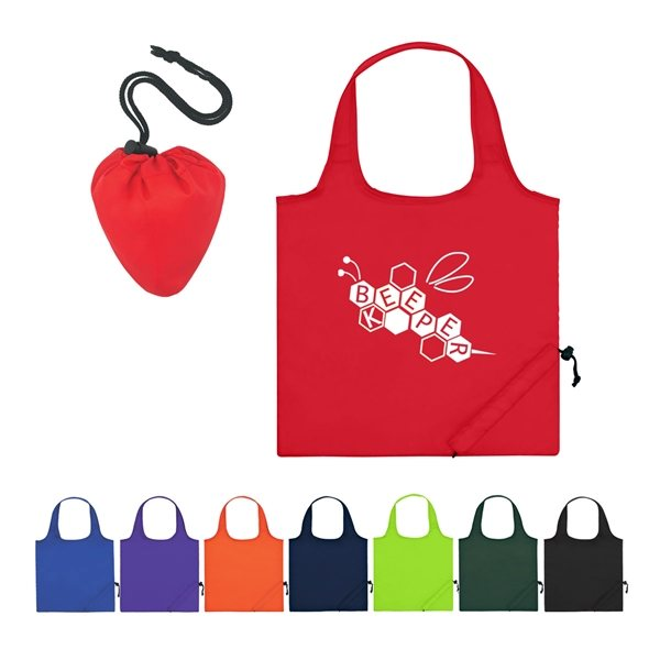 Promotional 210 Polyester Foldaway Tote Bag