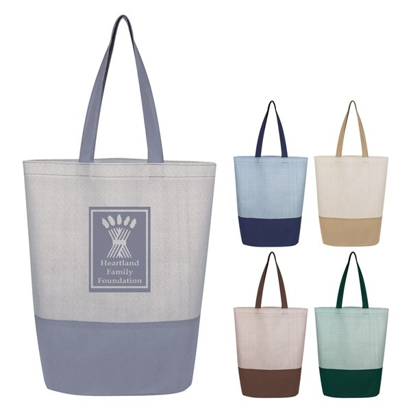 Promotional Herringbone Non - Woven Tote Bag