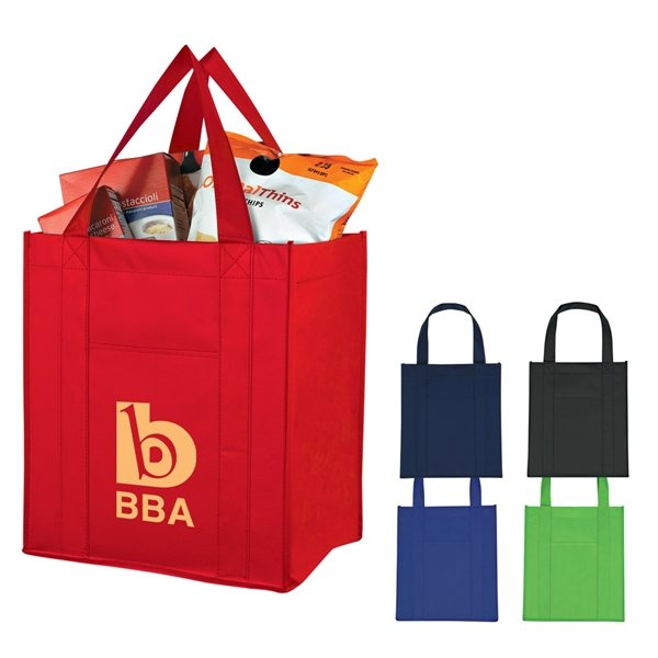 Promotional Matte Laminated Non - Woven Shopper Tote Bag