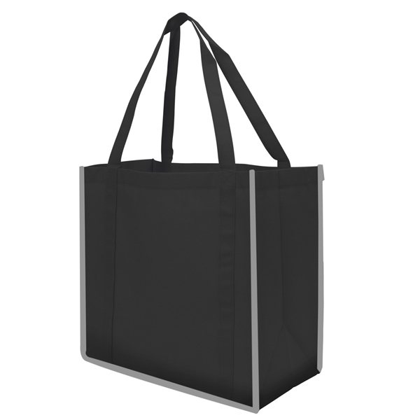 Promotional Reflective Large Grocery Tote Bag