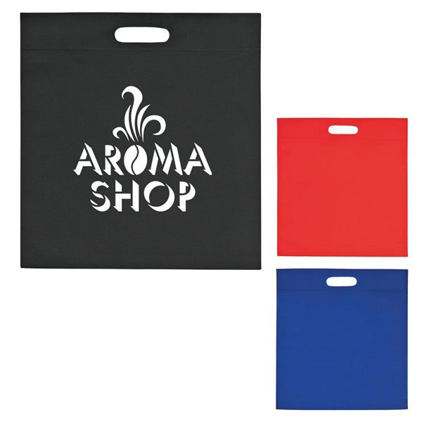 Promotional Large Heat Sealed Non - Woven Exhibition Tote Bag