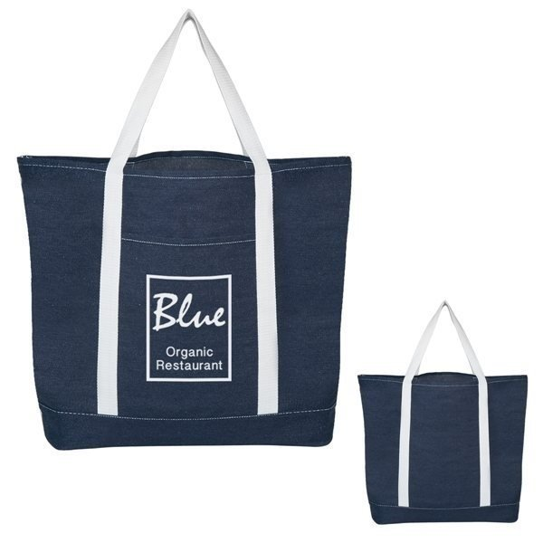 Promotional Denim Shopping Tote Bag