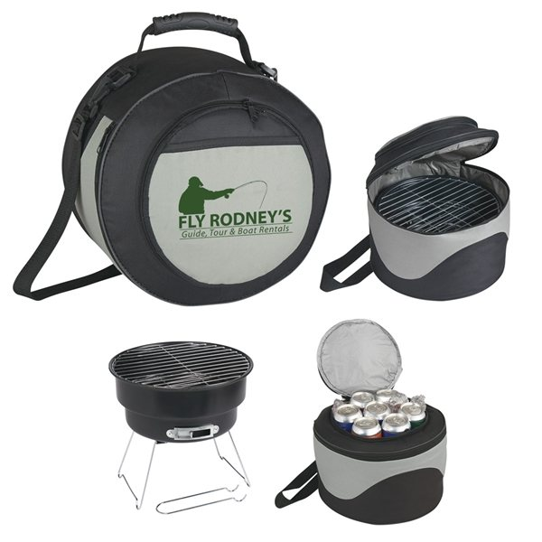 Promotional Portable BBQ Grill And Cooler