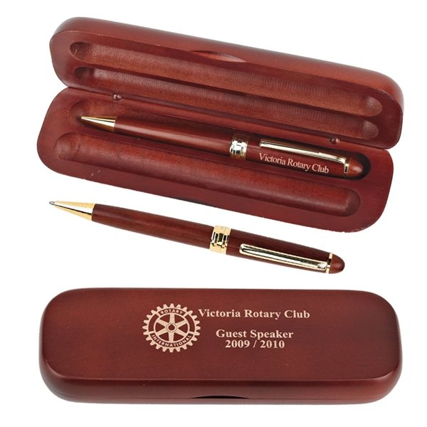 Promotional Rosewood Pen Pencil Set
