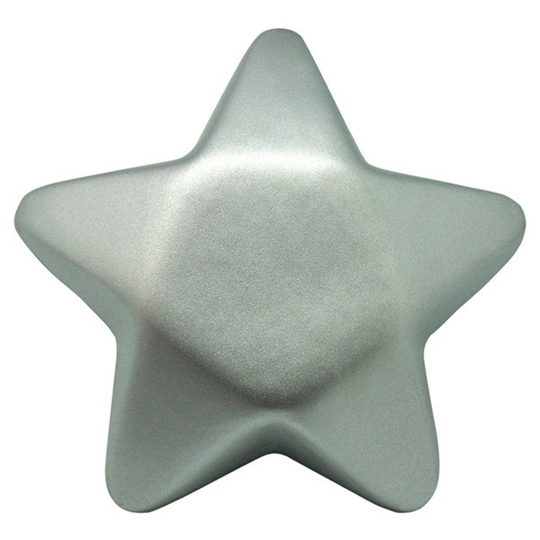 Promotional Silver Star Squeezies Stress Reliever