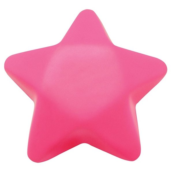 Promotional Pink Star Squeezies Stress Reliever