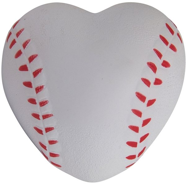 Promotional Heart Shaped Baseball Squeezie - Stress reliever