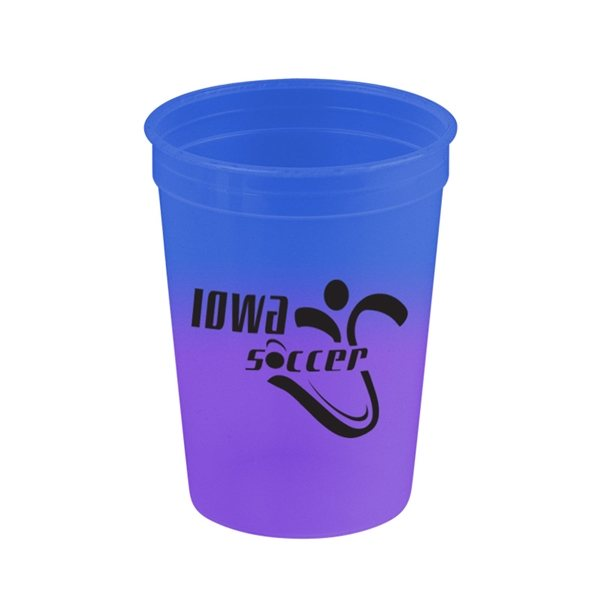 Promotional 12 oz Cups On The Go Cool Color Changing Mood Cup