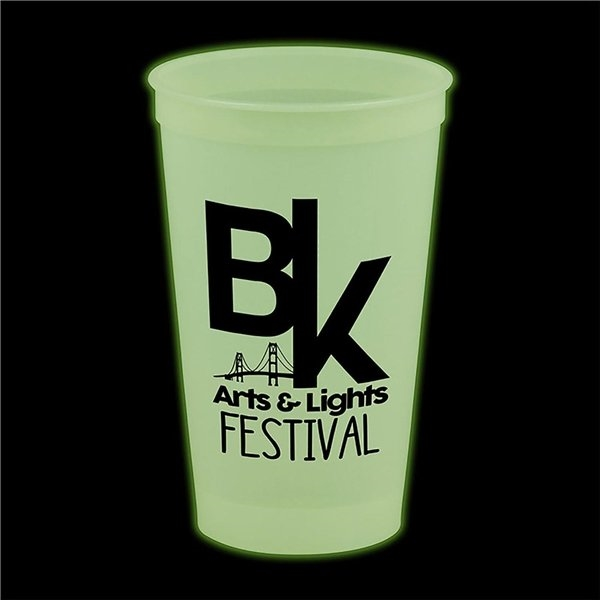 Promotional 20 oz Glow In The Dark Stadium Cup