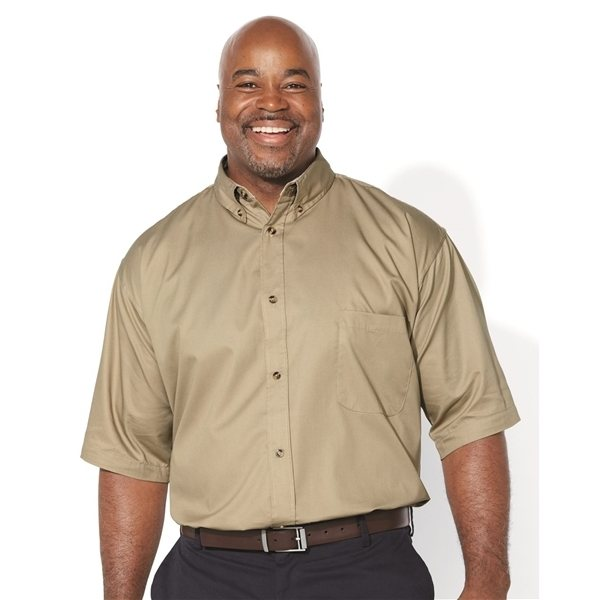 Promotional FeatherLite(R) Short Sleeve Twill Shirt Tall Sizes