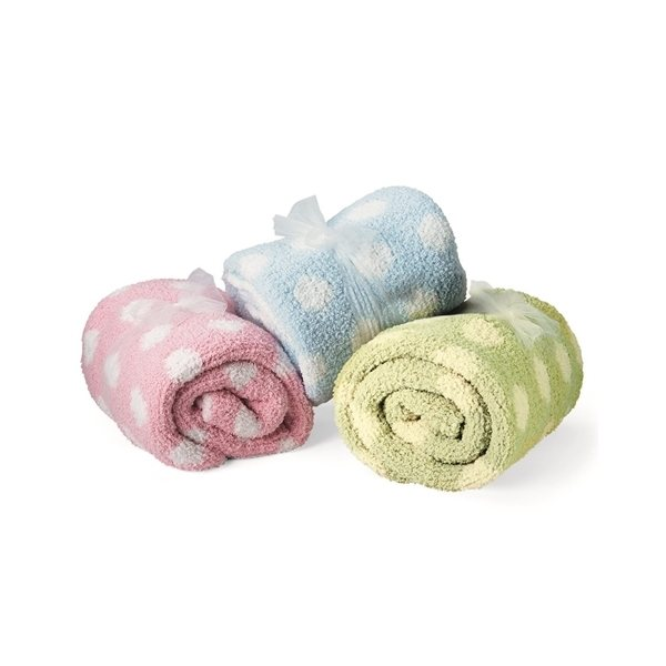 Promotional Colorado Clothing Crib Clouds Chunky Chenille Polka Dot Baby Blanket