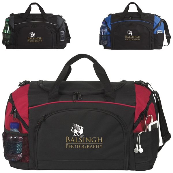 Promotional Polyester Perfect Score Duffel Bag 20