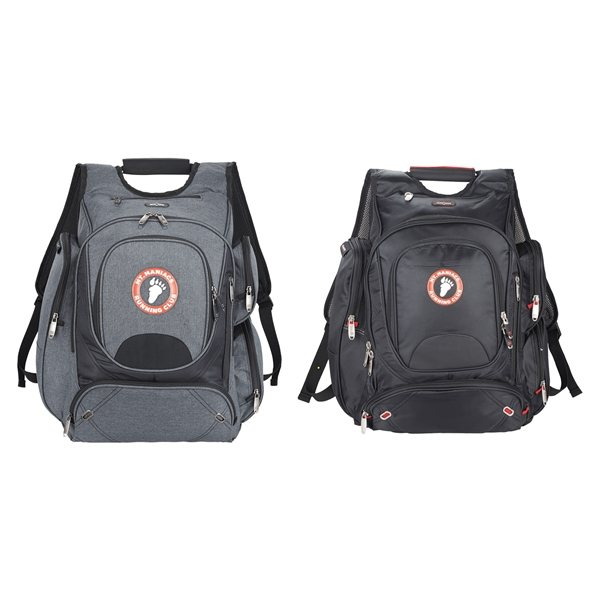 Promotional elleven(TM) Nylon Checkpoint Friendly Backpack 17 Laptop