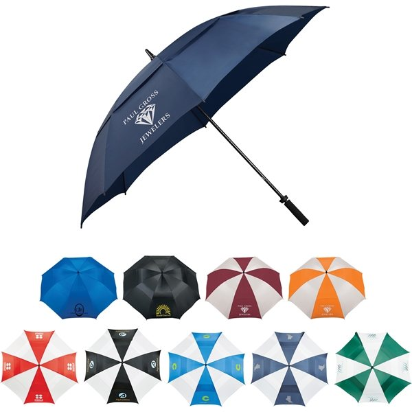Promotional 62 Course Vented Golf Umbrella