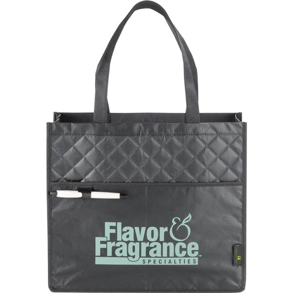 Promotional Quilted Laminated Non - Woven Carry - All Tote