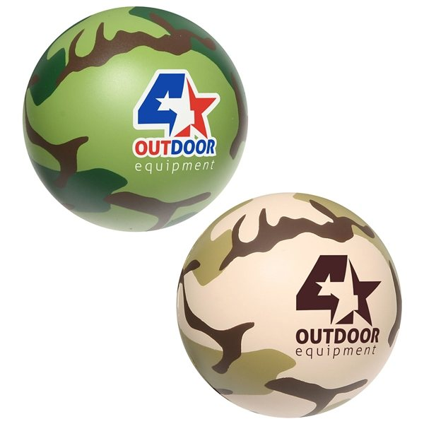 Promotional Camouflage Stress Ball - Stress Relievers