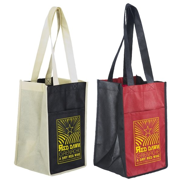 Promotional Sun Shower 4- Bottle Wine Bag