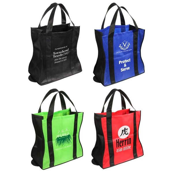 Promotional Wave Rider Folding Tote Bag