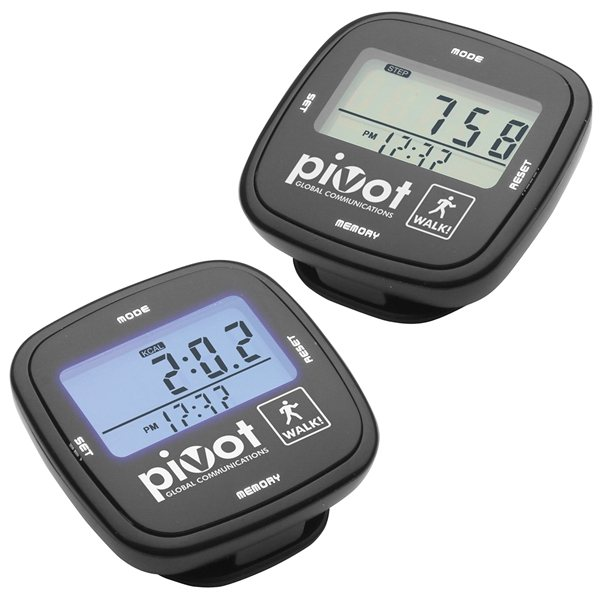 Promotional Multifunction Black Touch Screen Pedometer