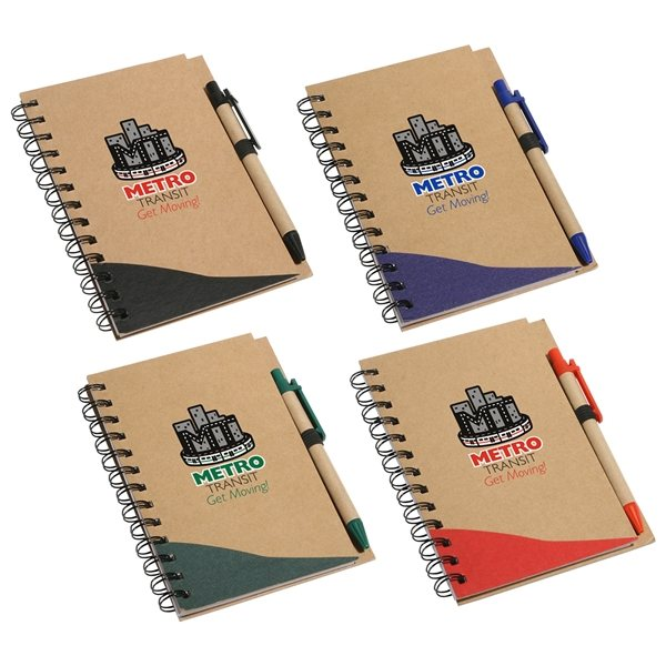 Promotional Recycle Write Notebook And Pen