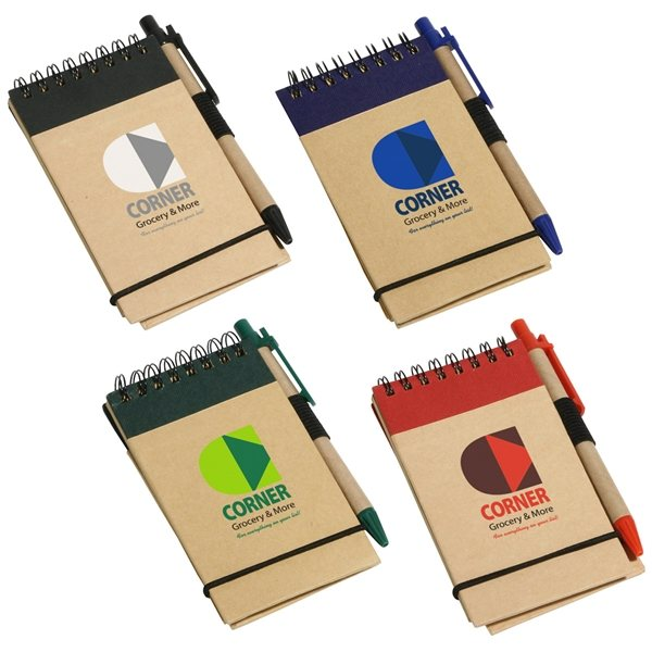 Promotional Think Green Recycled Notepad Pen