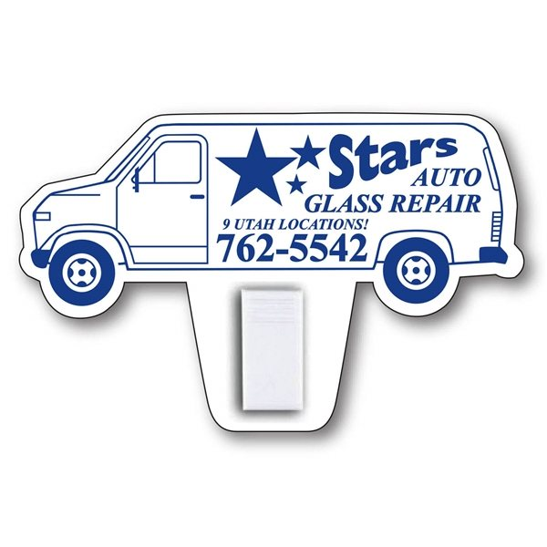 Promotional Van Magnet with Clip